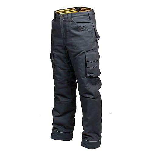 Pantalon de Travail en Canvas Doublé en Flanelle CLIMB (Gris) 42/32