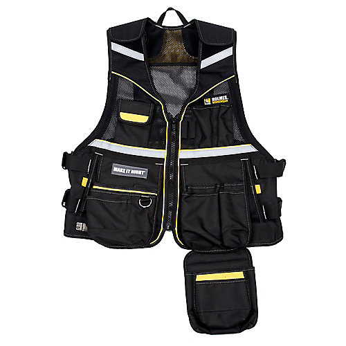 Multi-Pocketed Tool Vest Workwear One Size