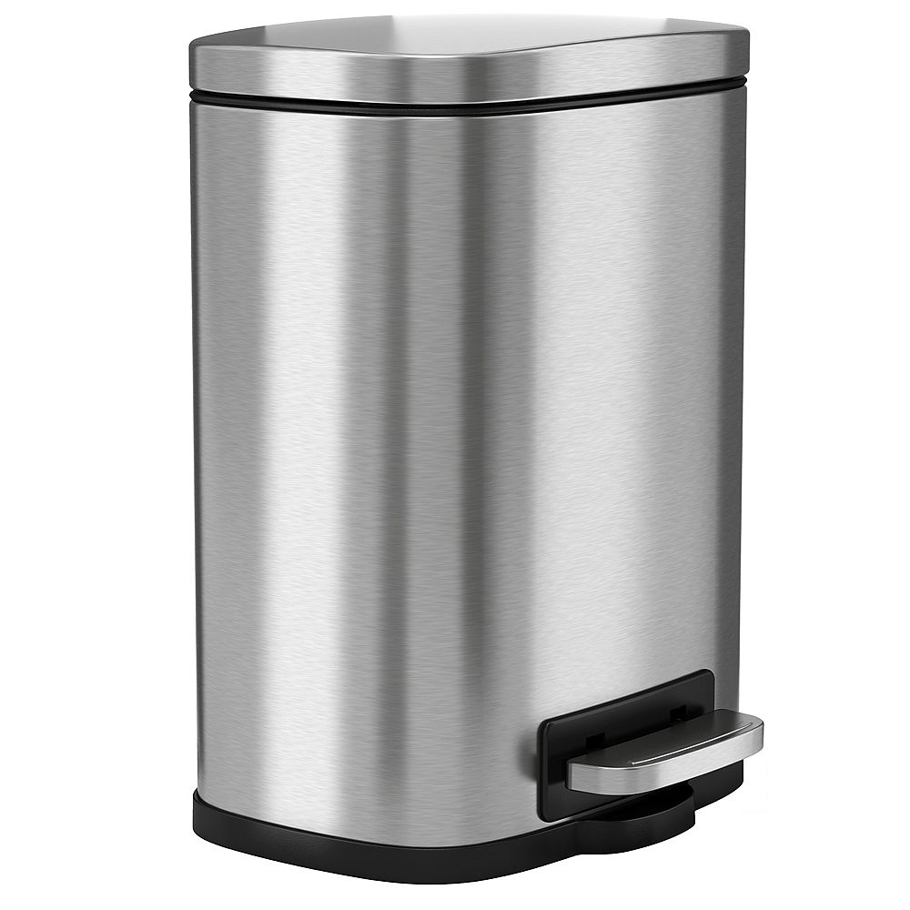 Halo 5 L / 1.32 Gal Premium Stainless Steel Step Trash Can