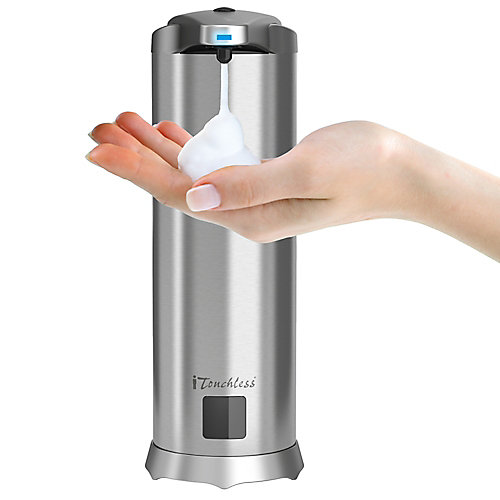 Stainless Steel Automatic Foam Soap Dispenser with 28 FL OZ. Soap Refill (Sweet Water scent)