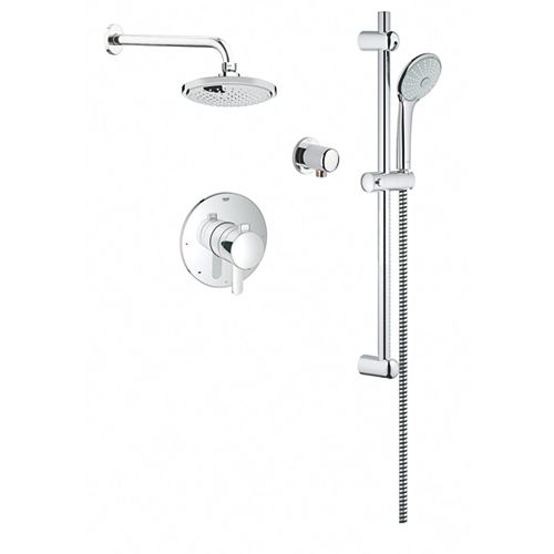 59-1/2 in. x 32-1/4 inch x 86 inch Standard Fit Shower Kit with Right-Hand Drain in White