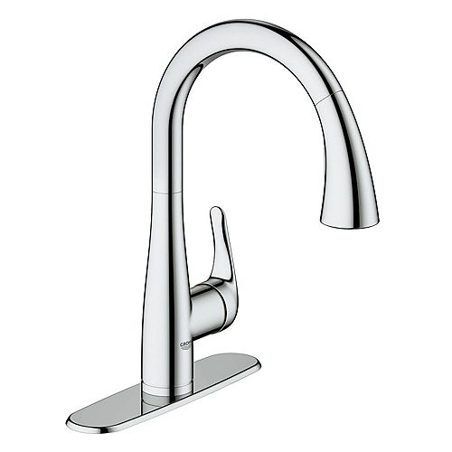 Elberon Single-Handle Dual Spray Kitchen Faucet in StarLight Chrome