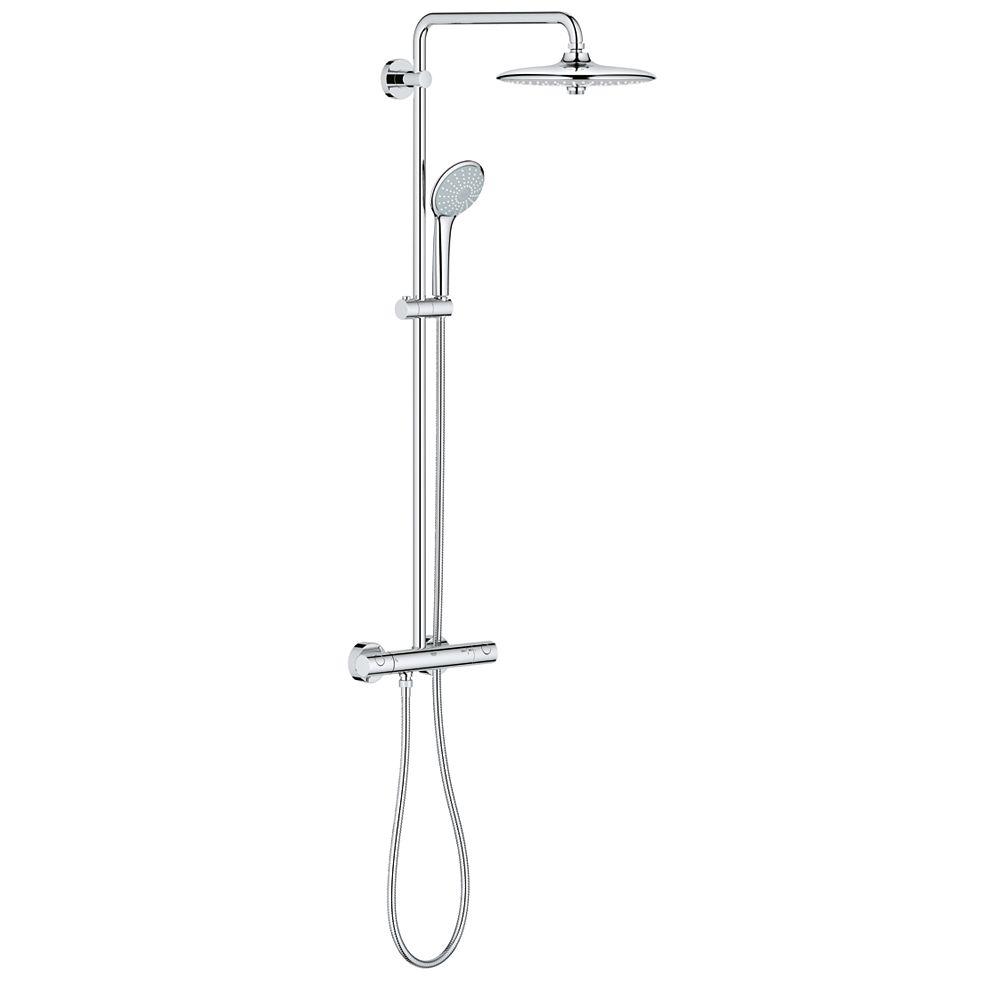 GROHE Euphoria 3-spray 10.25 inch Dual Shower Head and Handheld Shower Head in Chrome