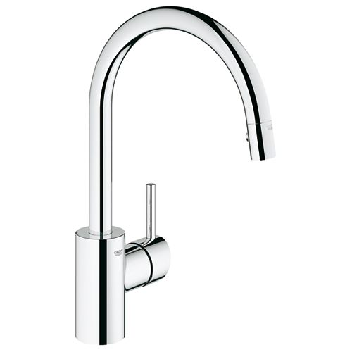 GROHE Concetto Single-Handle Pull-Down Sprayer Kitchen Faucet in StarLight Chrome