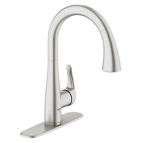 Elberon Dual Spray Pull-Down Kitchen Faucet in SuperSteel Infinity Finish