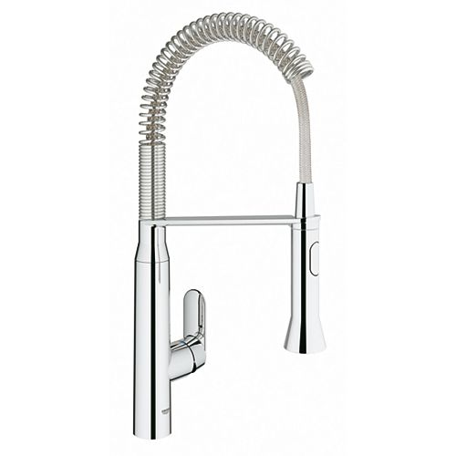 K7 Semi-Pro Medium Single-Handle Pull-Out Sprayer Kitchen Faucet in StarLight Chrome Finish