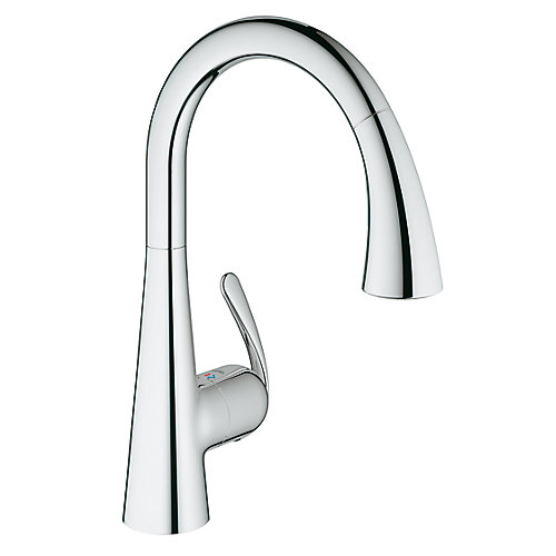 Ladylux³ Cafe Single-Handle Pull-Down Sprayer Kitchen Faucet with Dual Spray in StarLight Chrome