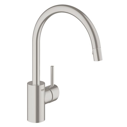 Concetto Single-Handle Pull-Down Sprayer Kitchen Faucet with Dual Spray in SuperSteel InfinityFinish