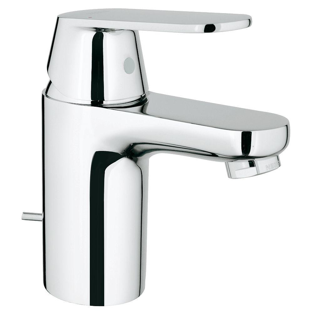 Grohe Eurosmart Cosmopolitan Single Hole Single Handle Low Arc Bathroom Faucet In Starligh The Home Depot Canada
