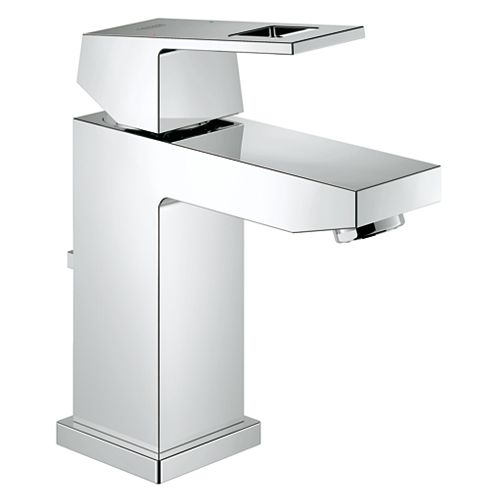 GROHE Eurocube Single Hole Single-Handle Bathroom Faucet in StarLight Chrome