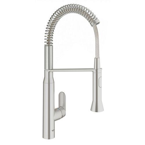 K7 Semi-Pro Medium Single-Handle Standard Kitchen Faucet in SuperSteel InfinityFinish