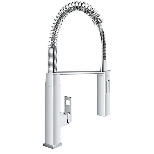 GROHE Eurocube Single-Handle Pull-Down Sprayer Kitchen Faucet in StarLight Chrome