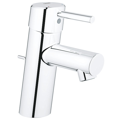 Concetto Single Hole Single-Handle Low-Arc Bathroom Faucet in StarLight Chrome