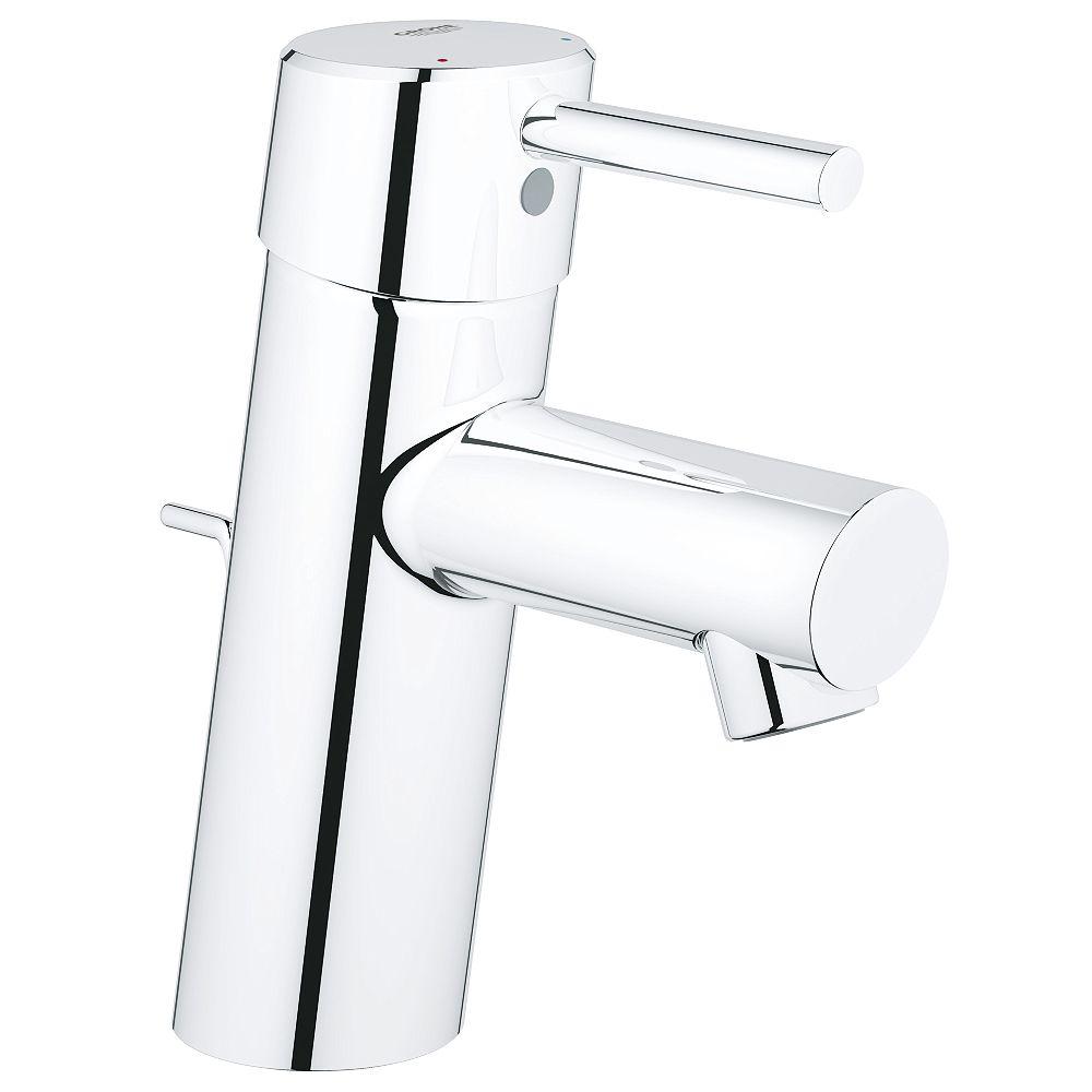 GROHE Robinet de salle de bains Concetto à un trou et à poignée unique en chrome StarLight