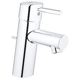 Robinet de salle de bains Concetto à un trou et à poignée unique en chrome StarLight