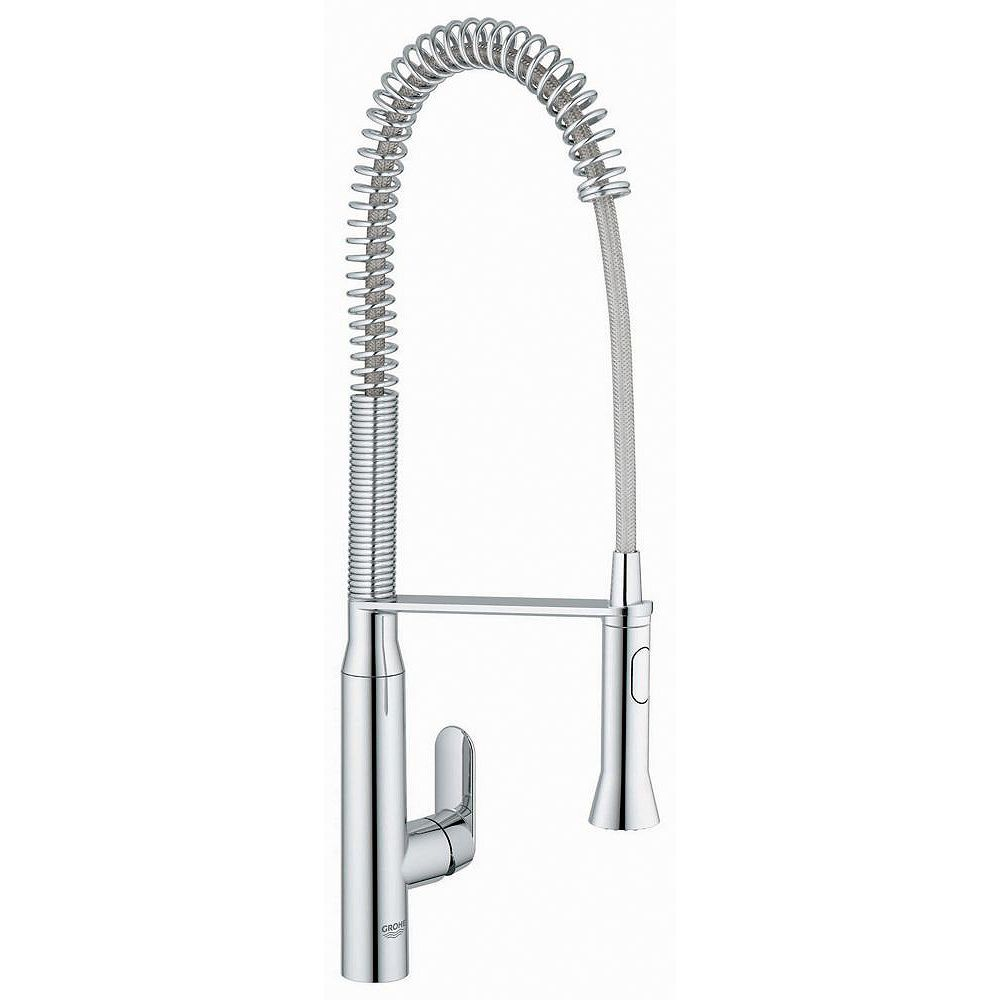 GROHE K7 Semi-Pro Single-Handle Pull-Out Sprayer Kitchen Faucet in StarLight Chrome Finish