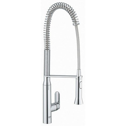 K7 Semi-Pro Single-Handle Pull-Out Sprayer Kitchen Faucet in StarLight Chrome Finish