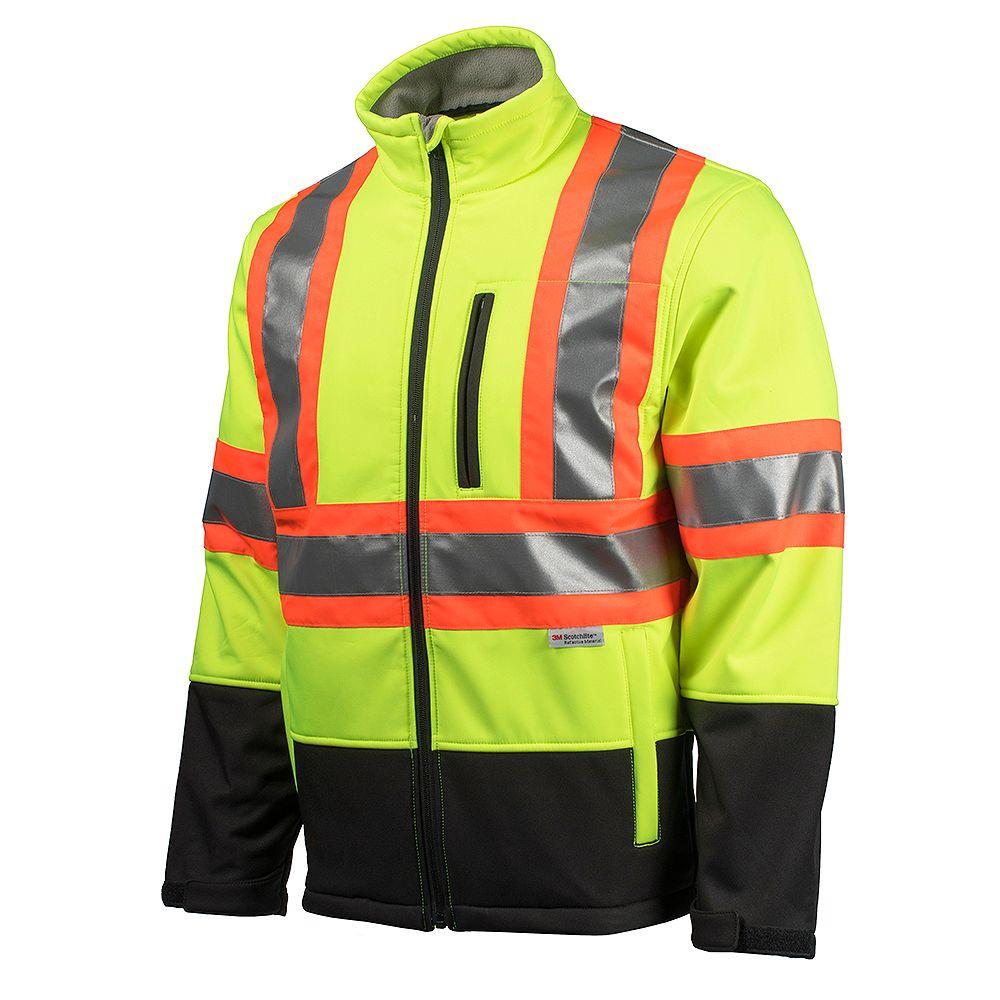 Terra Hi-Vis Softshell Jacket with YKK Zipper (Yellow) SZ M