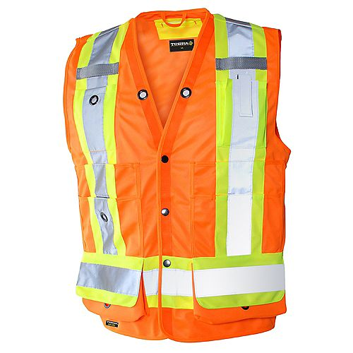 Hi-Vis Surveyor's Vest (Orange) SZ L