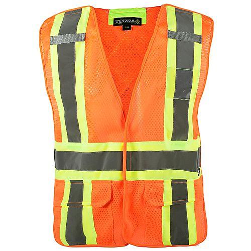 Veste de Sécurité Détachable 5-Points Haute Visibilité (Orange) 4XL/5XL
