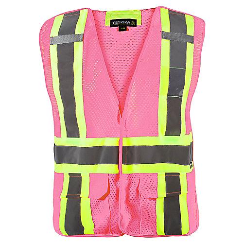 Hi-Vis 5-Point Tear Away Vest (Pink) SZ S/M