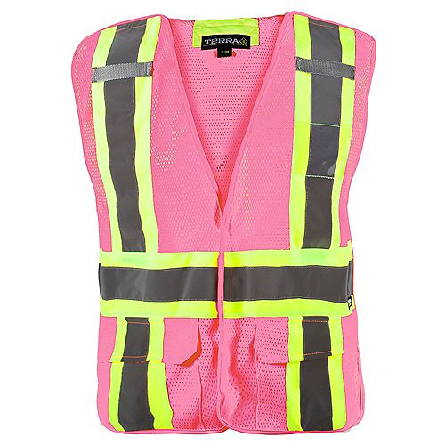 Hi-Vis 5-Point Tear Away Vest (Pink) SZ S/M
