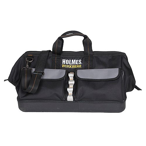 Holmes 18-inch Tool Bag with Metal Handle Opening Work Wear