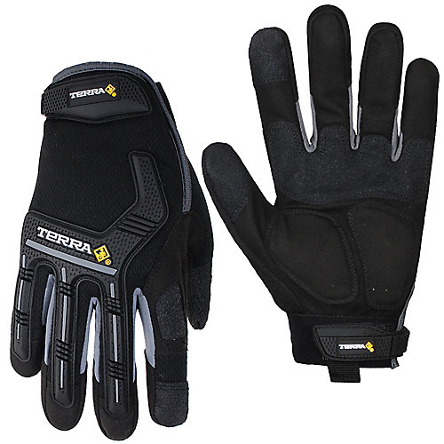 Mechanics Gloves with Synthetic Leather & Padded Palm SZ XL