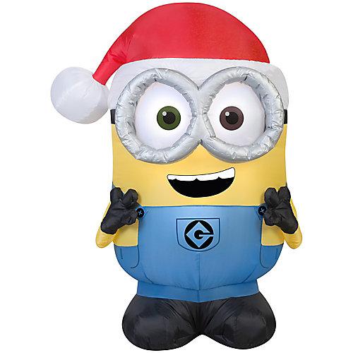 Airblown-Minion Bob avec chapeau de père Noël-SM