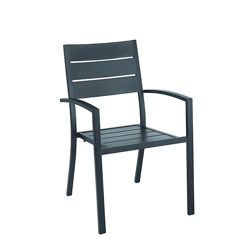Mix & Match Horizontal Slat Back Stacking Patio Chair
