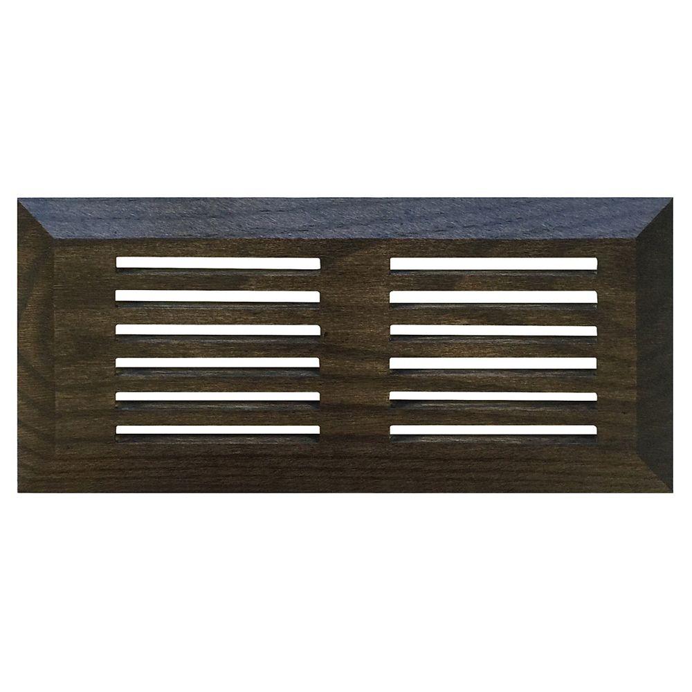 Finium grille de ventilation 4x10 de surface Plano Chêne grey