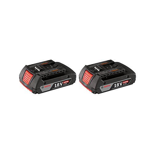 18-Volt Lithium-Ion 2.0Ah SlimPack Batteries (2-Pack)