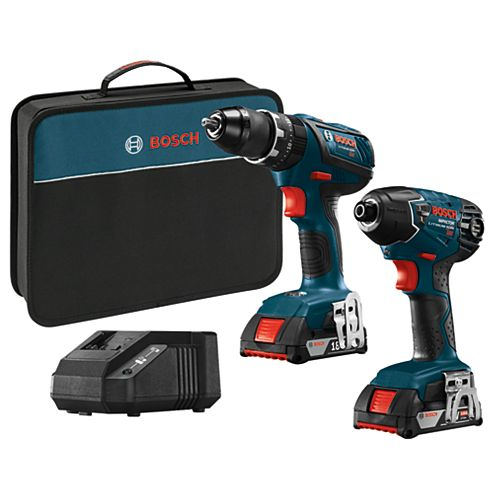 18-Volt 2-Tool Combo Kit with 1/2 inch Hammer Drill/Driver and 1/4 inch Hex Impact Driver