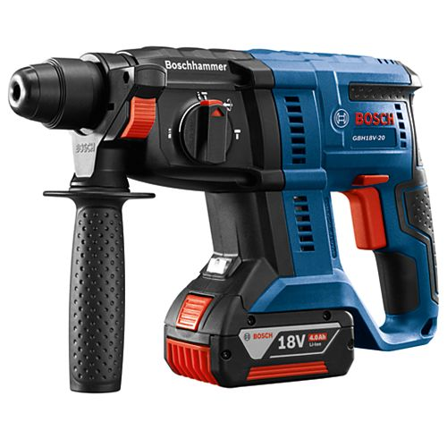 Bosch 18-Volt Cordless 3/4 inch SDS-plus Rotary Hammer Kit with 4.0Ah FatPack Battery