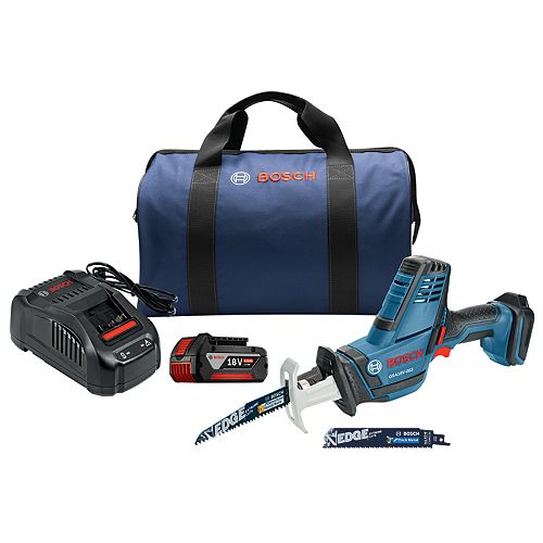 18V Cordless Variable Speed Compact Reciprocating Saw Kit with 4.0Ah FatPack Battery
