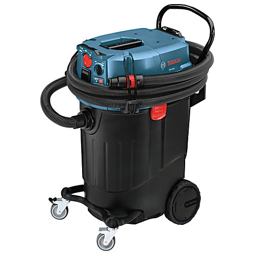 14-Gallon Wet/Dry Dust Extractor Vacuum with Automatic Filter Clean and HEPA Filter