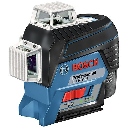 360-Degree Connected Green-Beam Three-Plane Levelling and Alignment-Line Laser