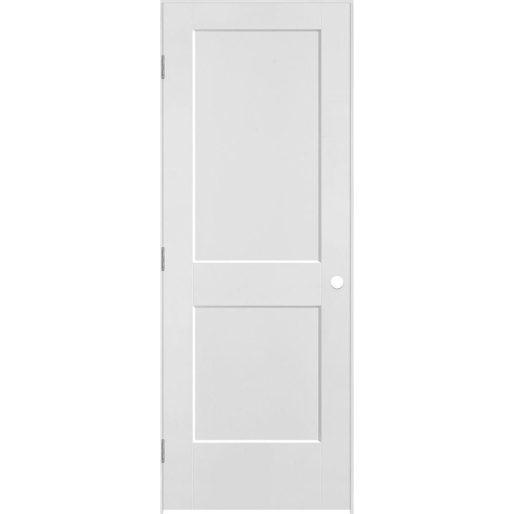 Masonite 30 inch x 80 inch Logan 2-Panel Right Hand Interior Prehung Door