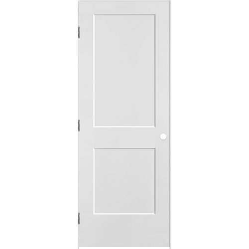 Masonite 30 inch x 80 inch Logan 2-Panel Right Hand Interior Prehung Door