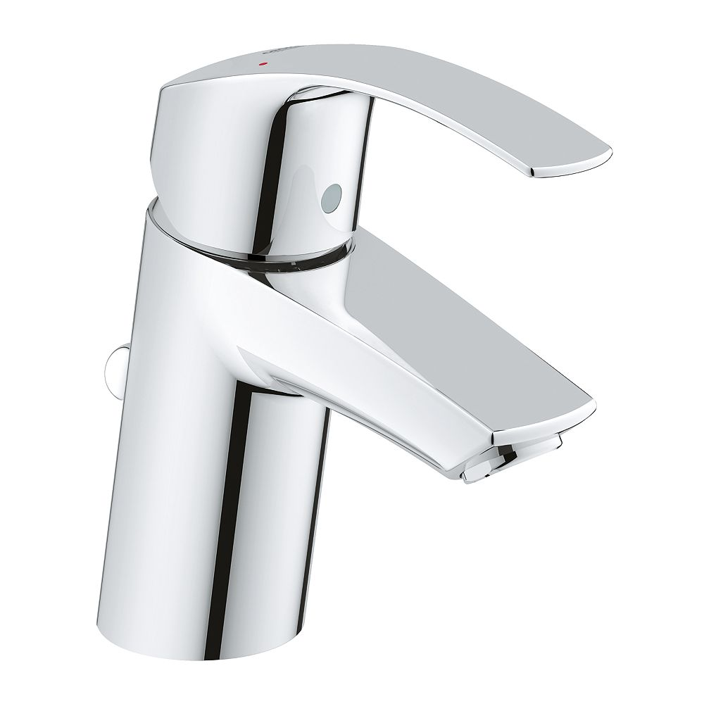 Grohe Eurosmart New Single Hole Single Handle 1 2 Gpm Bathroom Faucet In Starlight Chrome The Home Depot Canada