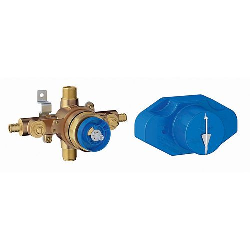 GROHE Grohsafe Universal Pressure Balance Rough-In valve with 1/2 inch PEX crimp/clamp in Copper