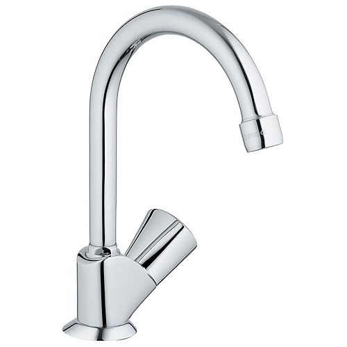 Classic II Single-Handle Pillar Tap Faucet in Starlight Chrome