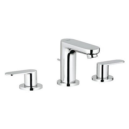 Eurosmart Cosmopolitan 8-inch Widespread 2-Handle 1.2 GPM Bathroom Faucet in StarLight Chrome