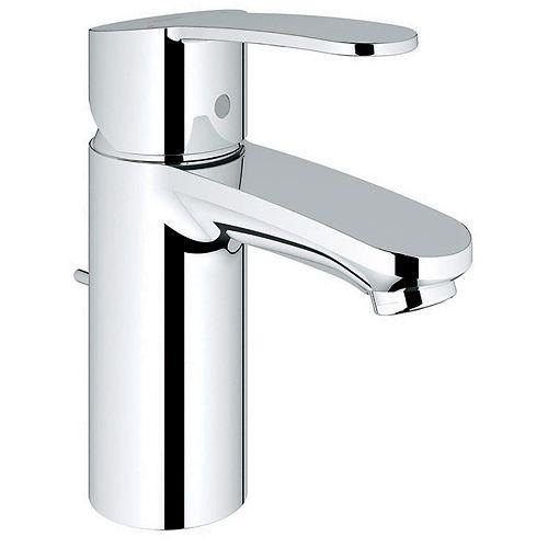 Robinet de salle de bain Eurostyle Cosmopolite à un trou et à une poignée en chrome StarLight