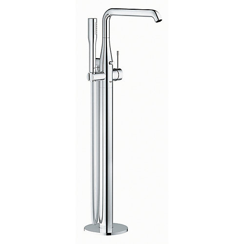 Essence Single-Handle Floor-Mount Roman Tub Faucet with Hand Shower in StarLight Chrome