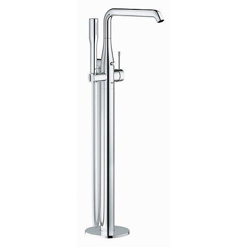Essence Nouveau robinet de baignoire romaine à poignée unique monté sur le sol avec douchette en chrome StarLight