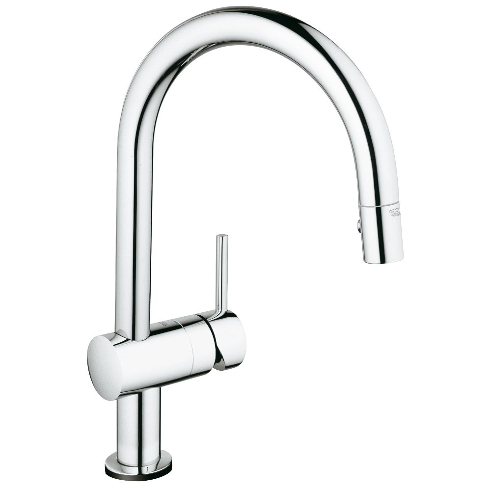 GROHE Minta Single-Handle Pull-Down Sprayer Kitchen Faucet in GROHE StarLight Chrome finish