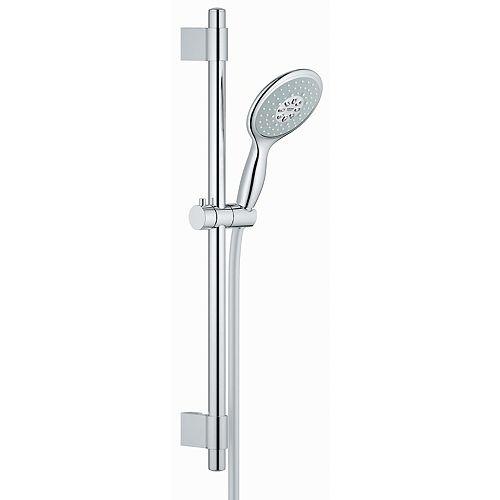 Power & Soul Cosmopolitan 130 Shower Set 4-Spray Hand Shower 24 inch Rail in StarLight Chrome