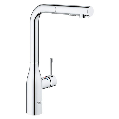 Essence Single Hole Single-Handle Kitchen Faucet with Dual Spray in StarLight Chrome