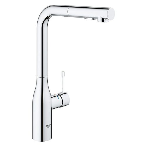 GROHE Essence Single Hole Single-Handle Kitchen Faucet with Dual Spray in StarLight Chrome